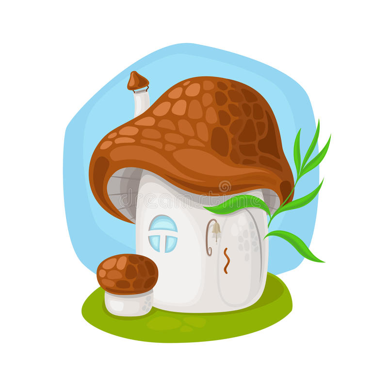 Het huis van de feepaddestoel vector illustratie