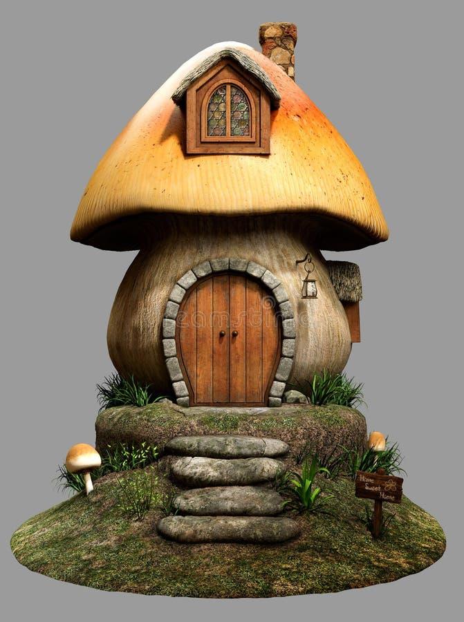 Het huis van de feepaddestoel stock illustratie