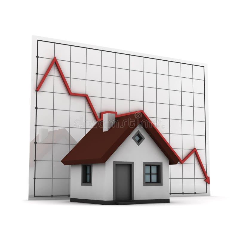 Het huis van de grafiek vector illustratie