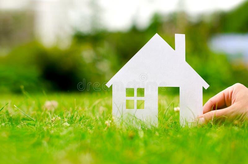 Het huis van de handgreep stock foto