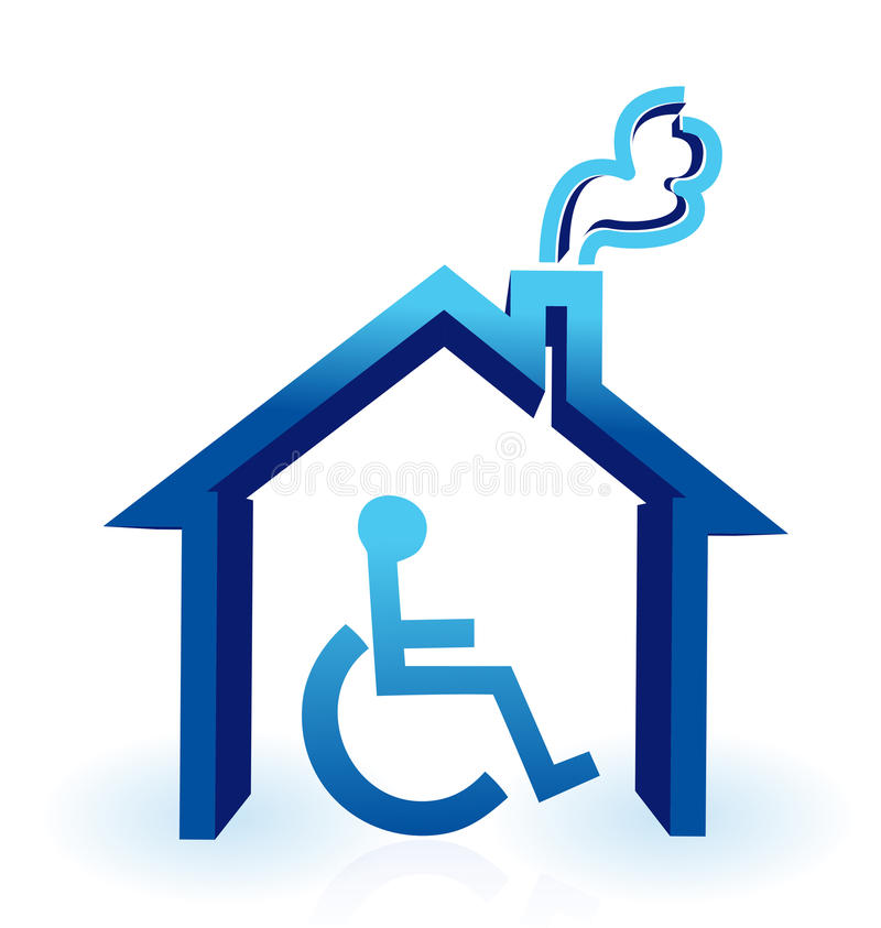 Het huis van de handicap vector illustratie