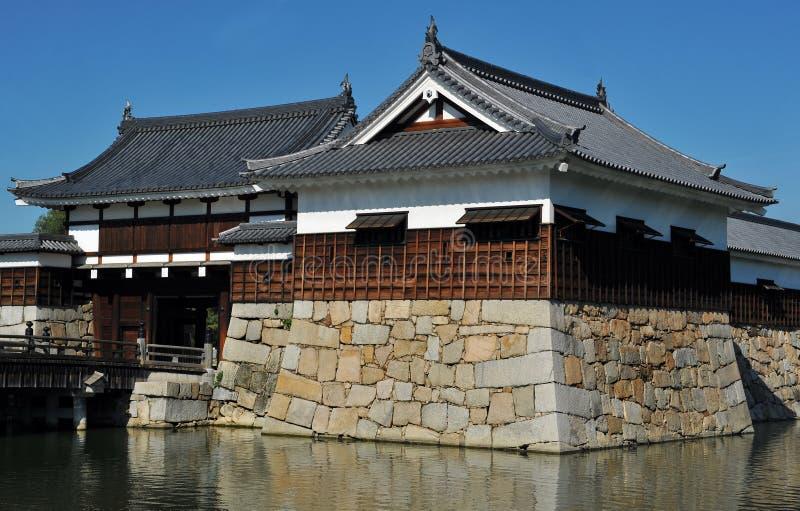 Het huis van de het kasteelpoort van Hiroshima royalty-vrije stock afbeeldingen