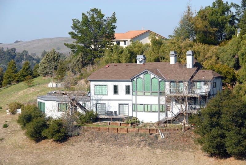 Het huis van de heuveltop royalty-vrije stock foto