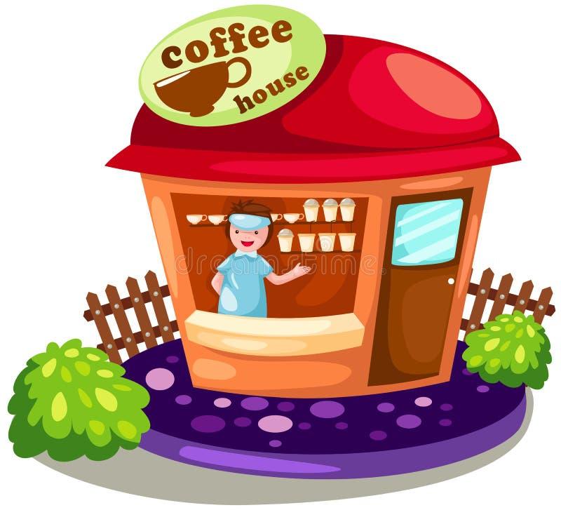 Het huis van de koffie stock illustratie