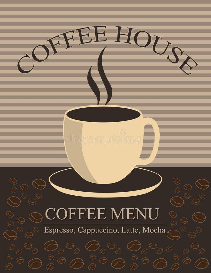 Het huis van de koffie vector illustratie