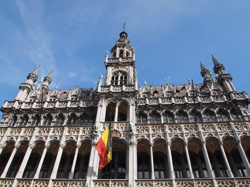 Het Huis van de koning de Grote Plaats in Brussel, België stock foto's