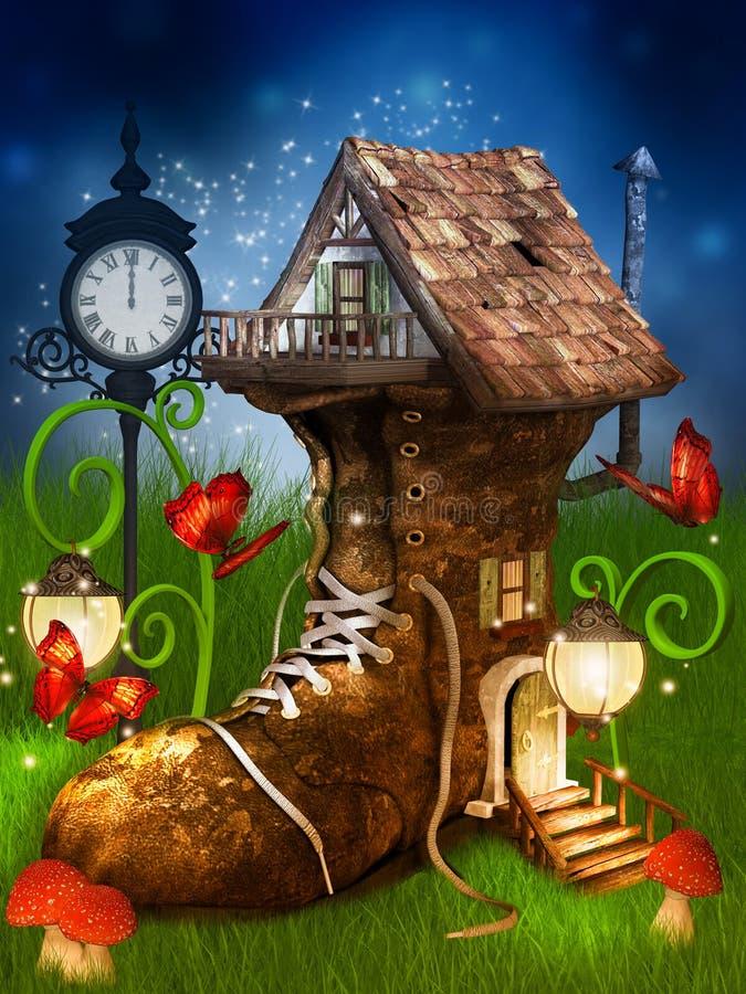 Het huis van de magische dwerg vector illustratie