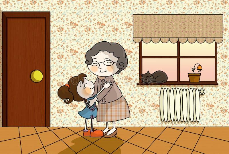 Download Het huis van de oma stock illustratie. Illustratie bestaande uit grootmoeder - 11430079