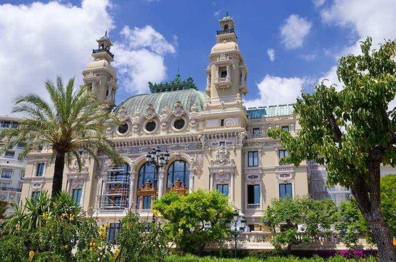 Het Huis van de opera in Monaco stock foto's