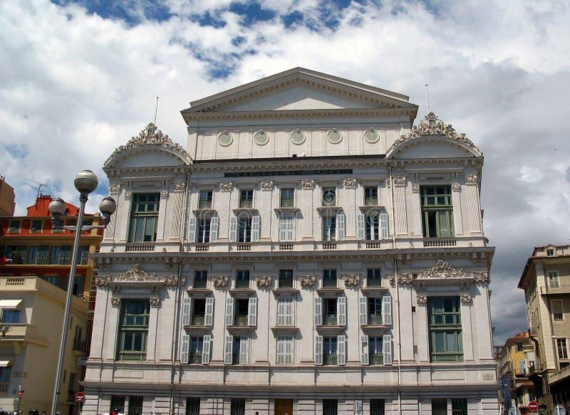 Het Huis van de opera, Nice, Frankrijk stock fotografie