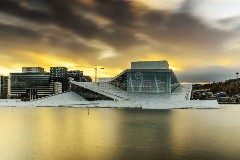 Het huis van de opera, Oslo stock afbeeldingen