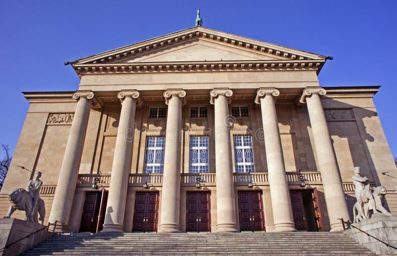 Het huis van de opera in Poznan stock foto