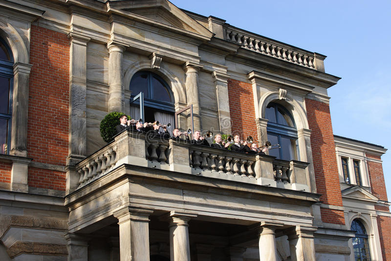 Het huis van de opera - Richard Wagner Bayreuth stock foto's