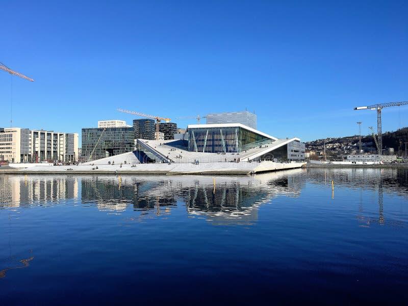 Het Huis van de Opera van Oslo, Noorwegen stock foto