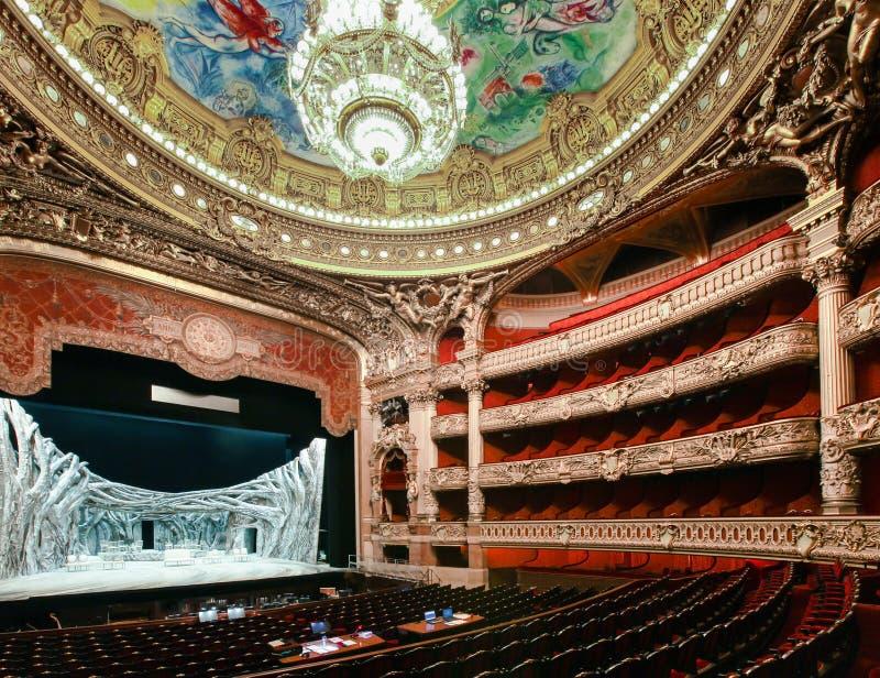 Het huis van de Opera van Parijs in Parijs, Frankrijk stock foto's