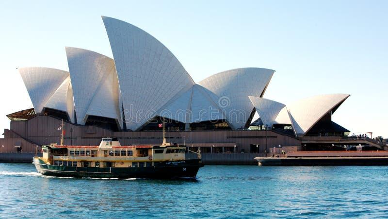 Het Huis van de Opera van Sydney in Australië stock afbeeldingen