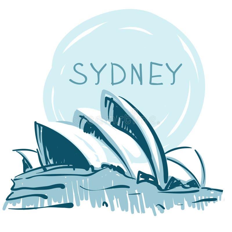 Het Huis van de Opera van Sydney, Sydney, Australië. stock illustratie
