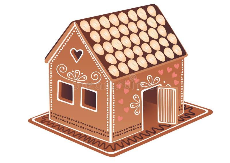 Het huis van de peperkoek royalty-vrije illustratie