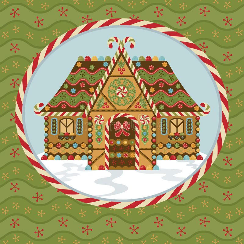 Het Huis van de Peperkoek van Kerstmis royalty-vrije illustratie