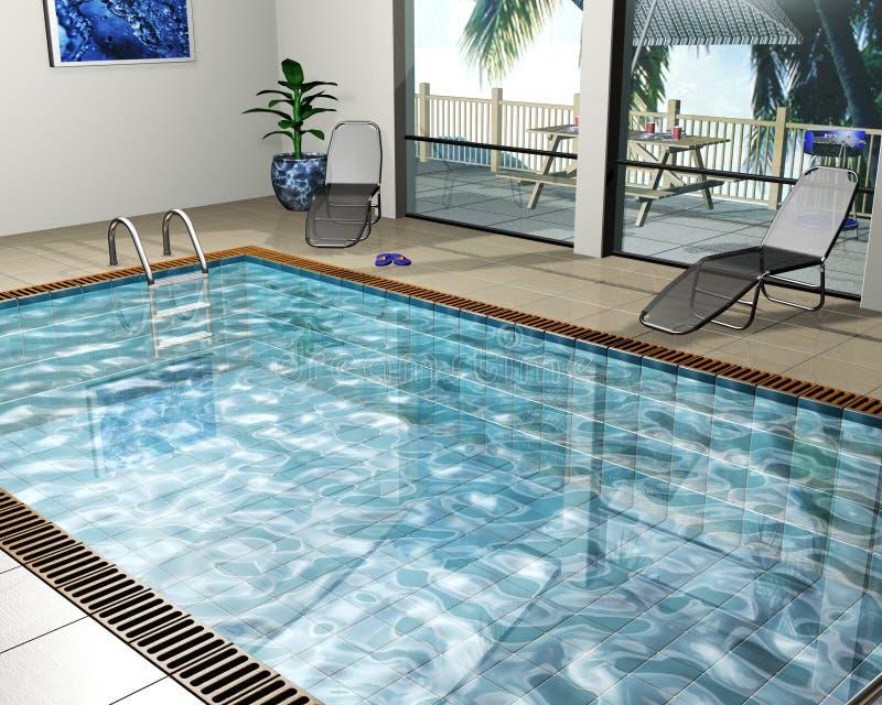 Het huis van de pool stock illustratie