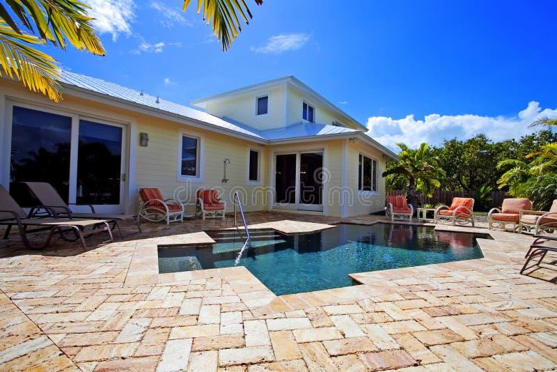 Het huis van de pool royalty-vrije stock foto's