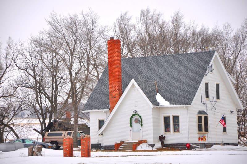 Het huis van de sneeuw royalty-vrije stock foto