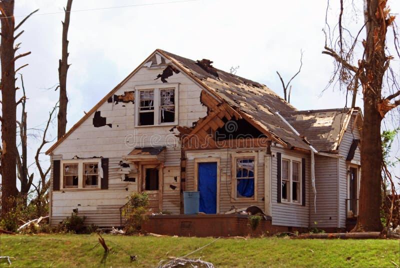 Het Huis van de Tornado van Tuscaloosa stock foto