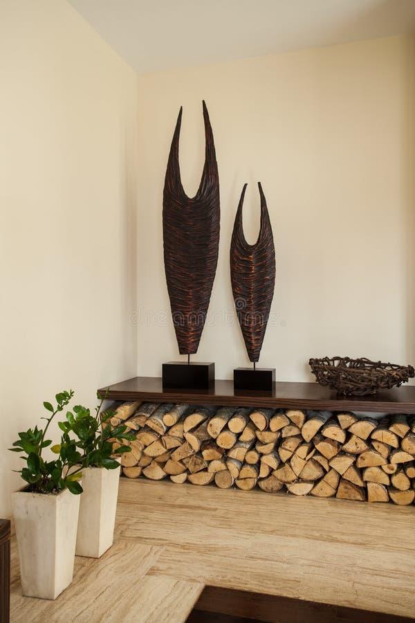 Het Huis Van De Travertijn: Decoratie In Woonkamer Stock ...