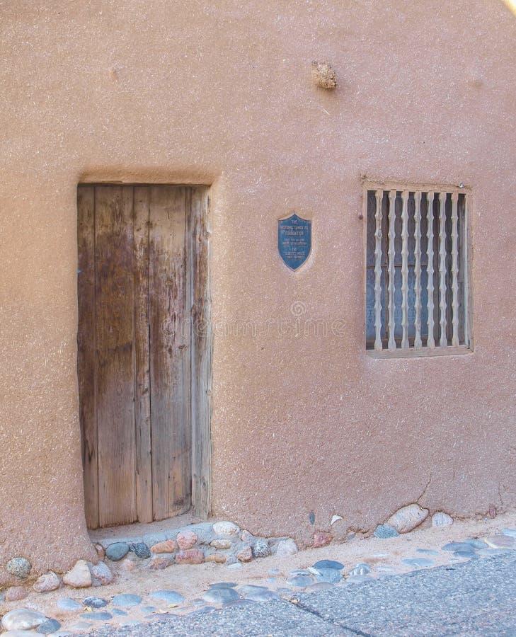 Het Huis van DE Vargas Street in Santa Fe, New Mexico stock foto's