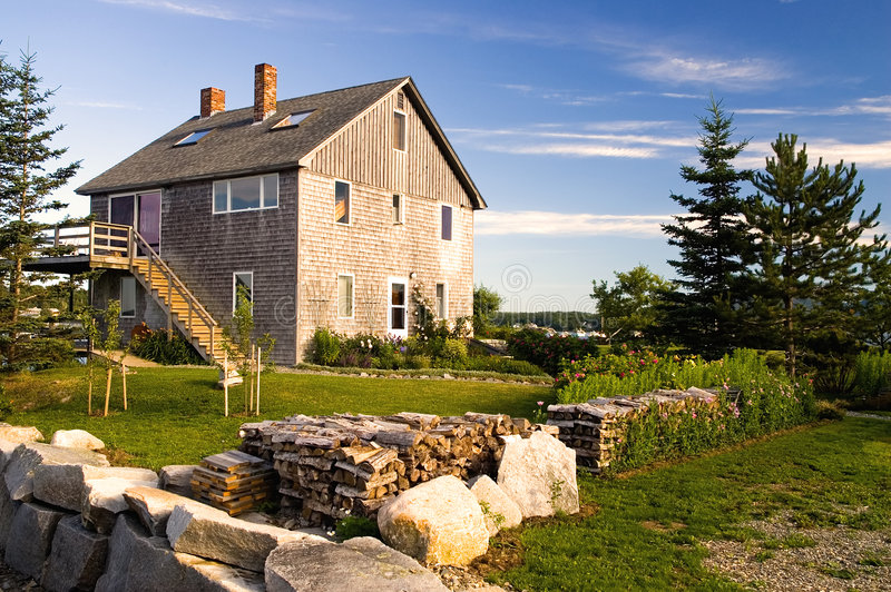 Het huis van de visser stock afbeeldingen