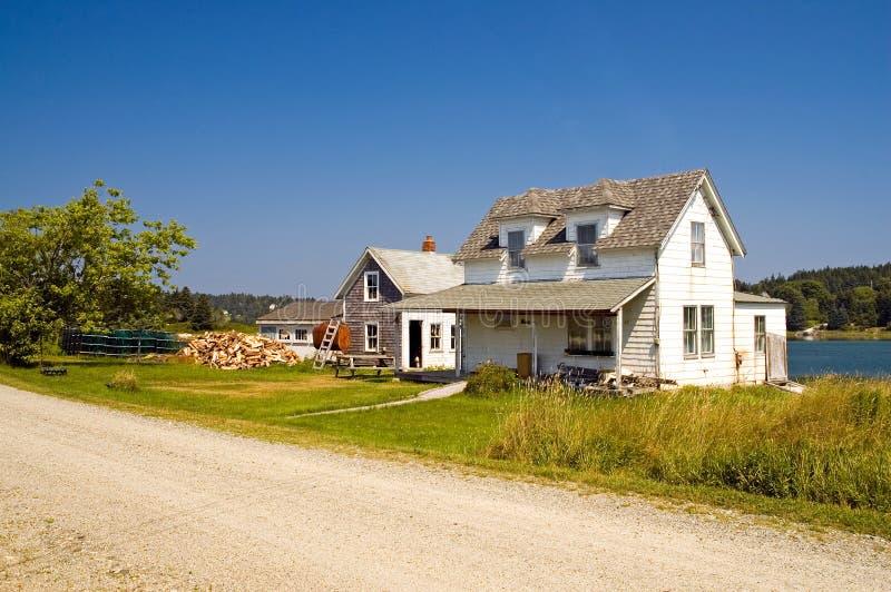 Het huis van de visser van Maine stock afbeelding
