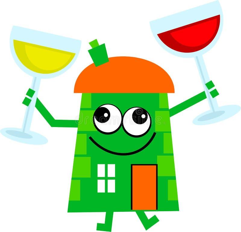 Het huis van de wijn vector illustratie