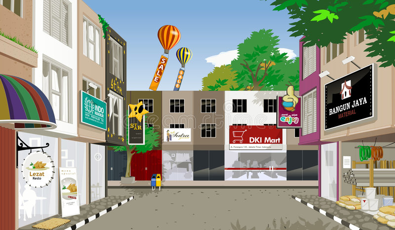 Het huis van de winkel royalty-vrije illustratie