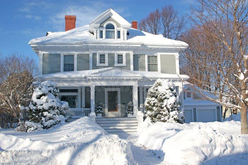 Het Huis van de winter stock afbeeldingen