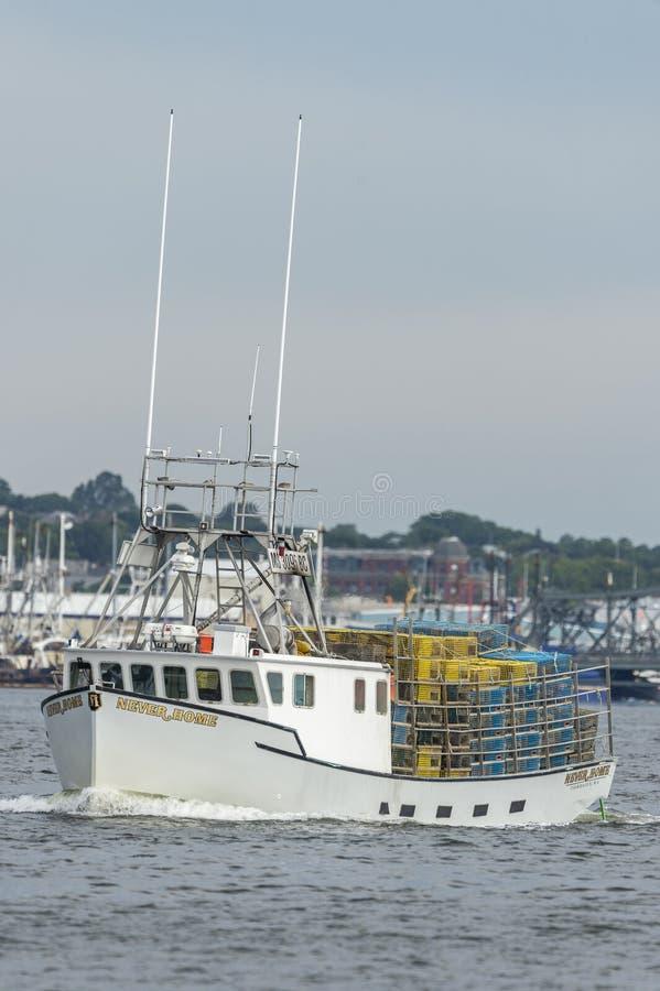Het Huis van de zeekreeftboot nooit gaande visserij royalty-vrije stock fotografie