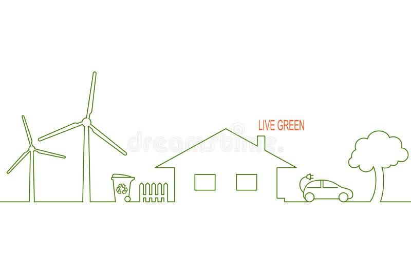 Het huis van Eco vector illustratie