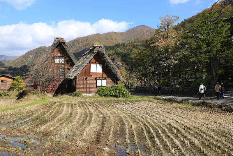 Het huis van Gasshozukuri stock afbeelding