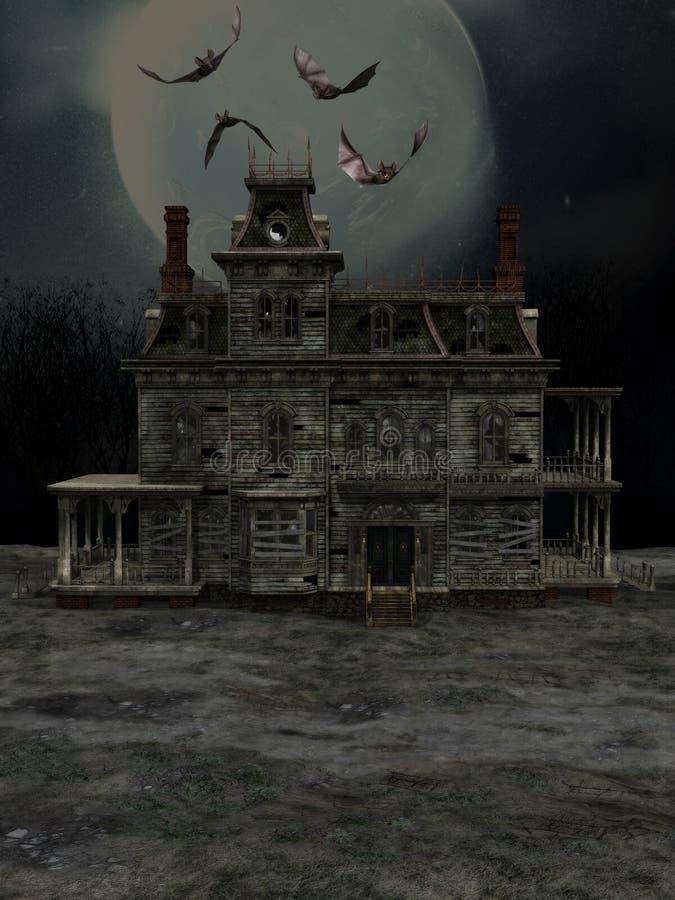 Het huis van Halloween stock illustratie