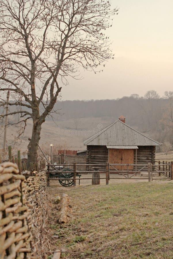 Het huis van het dorp stock afbeeldingen