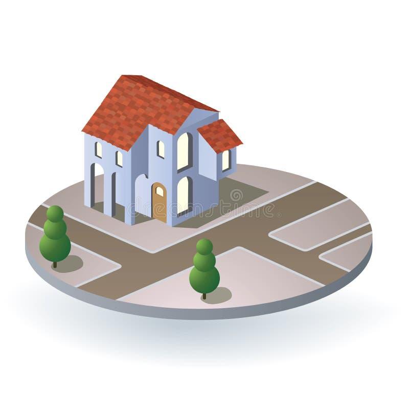 Het huis van het dorp royalty-vrije illustratie