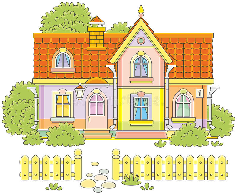 Het huis van het dorp stock illustratie