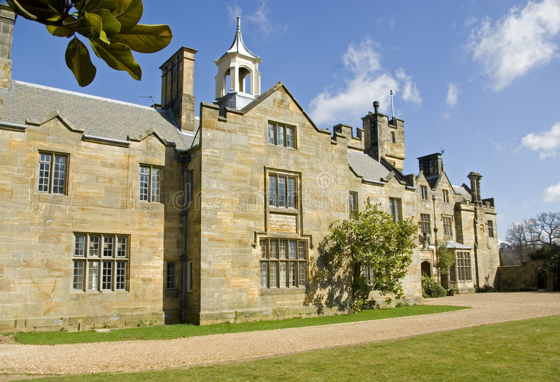 Het Huis van het Herenhuis van het Kasteel van Scotney. royalty-vrije stock fotografie
