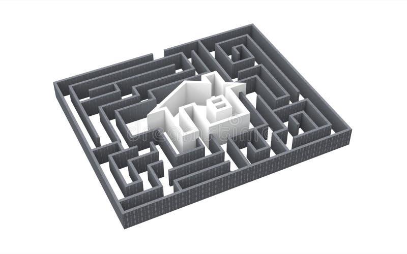 Het huis van het labyrint royalty-vrije illustratie