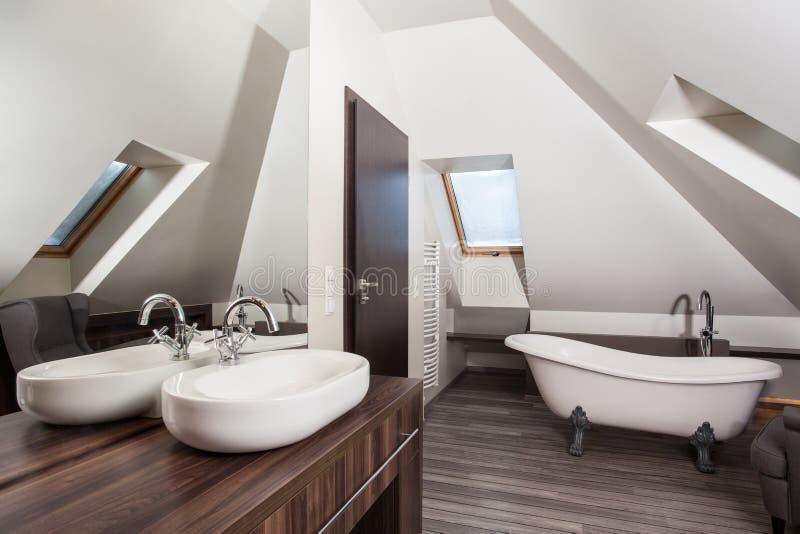 Het huis van het land - badkamers stock fotografie
