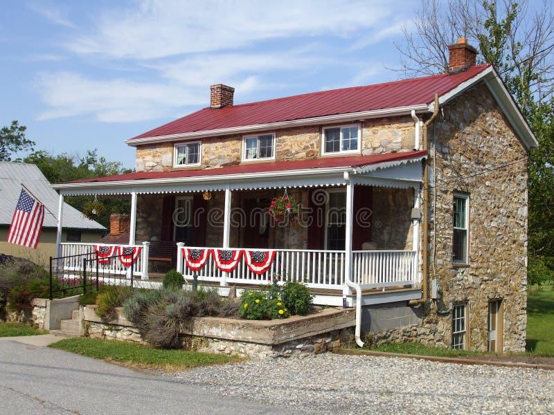 Het Huis van het Land van de steen stock foto's