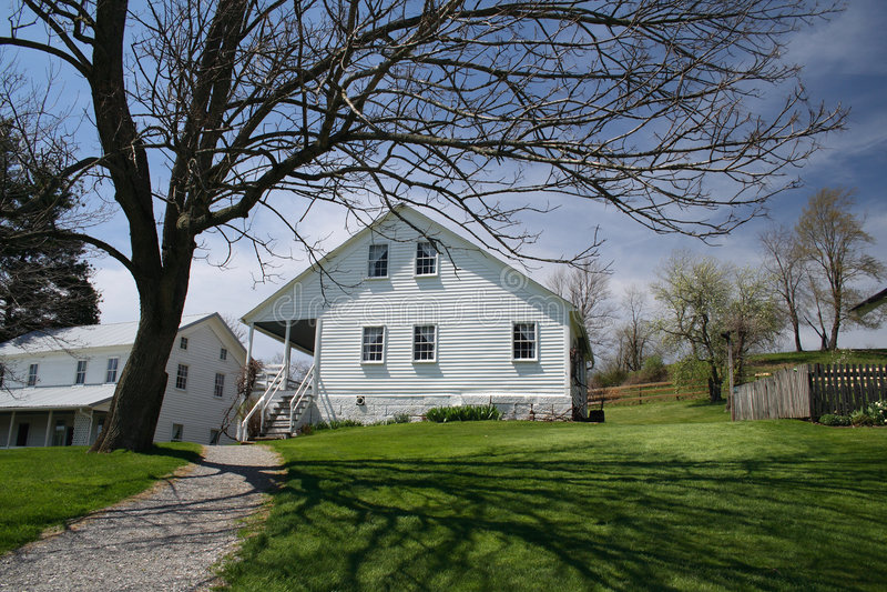Het huis van het landbouwbedrijf royalty-vrije stock afbeeldingen