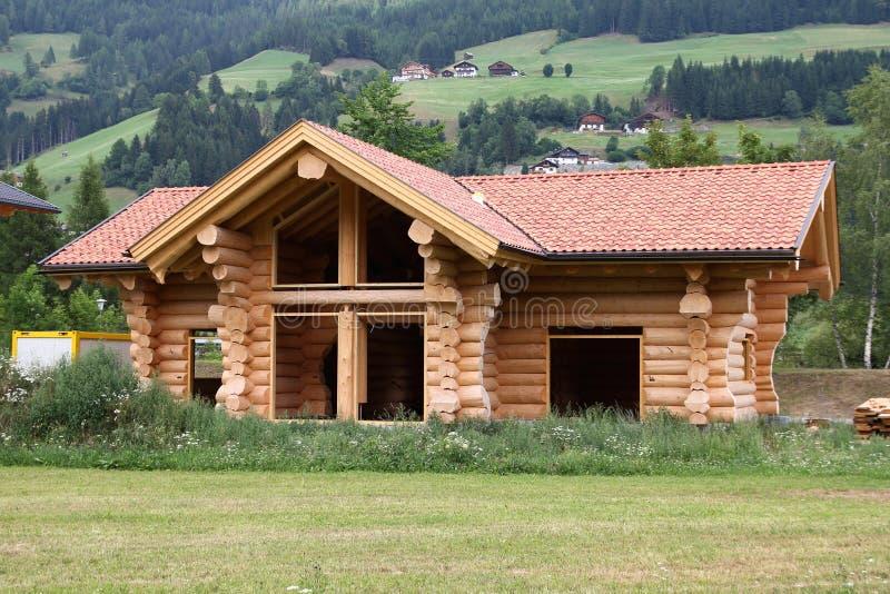 Het huis van het logboek royalty-vrije stock afbeelding