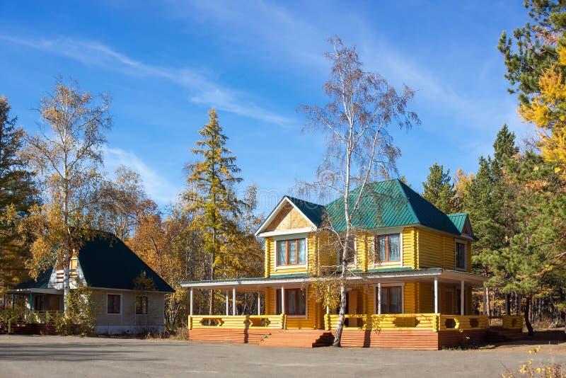 Het Huis van het logboek royalty-vrije stock foto