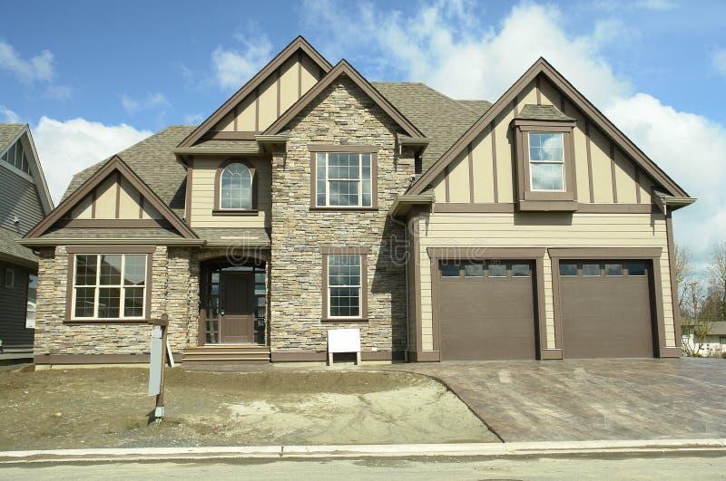 Het Huis van het nieuwe Huis voor Verkoop BC stock afbeelding