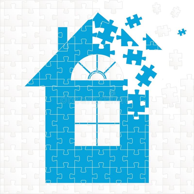Het huis van het raadsel vector illustratie